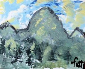 "Acrylic on canvas panel; 8x10"""